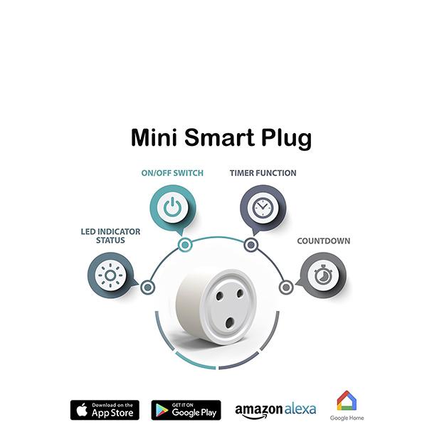 Mini WiFi Enabled Remote Control Smart Socket Plug Outlet